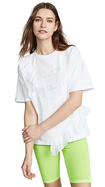 KENZO Tiger T-Shirt with Ruffles