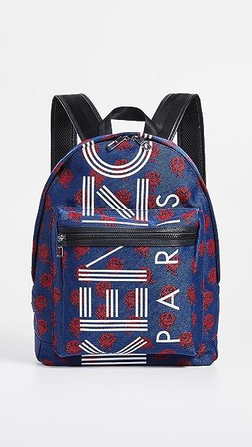 KENZO Жаккардовый рюкзак с цветочным рисунком
