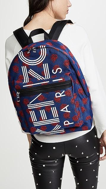 KENZO Jacquard Flower Backpack