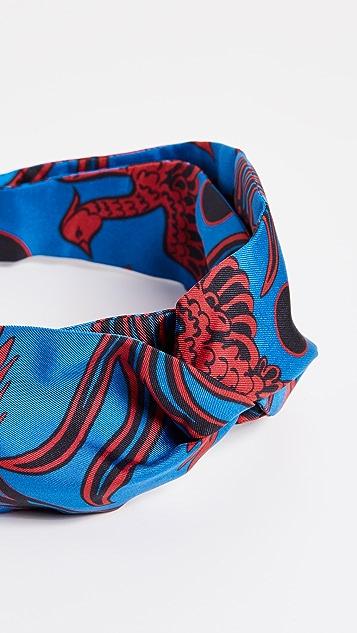 KENZO Flying Phoenix Turban Headband