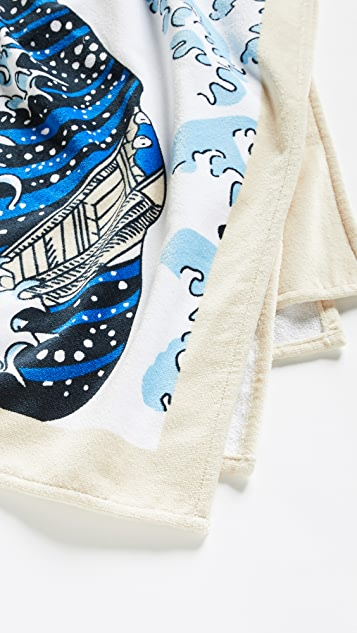 KENZO Kenzo Wave Beach Towel