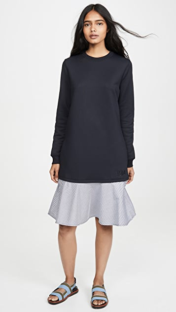 KENZO 混合梭织运动衫式连衣裙