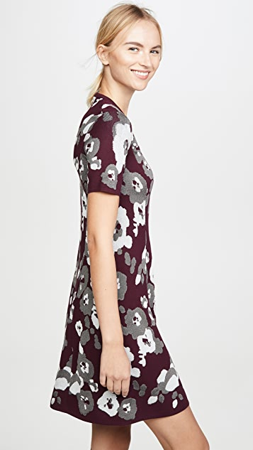 KENZO Fit & Flare Jacquard Dress