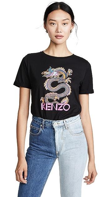 KENZO 祥龙直筒 T 恤