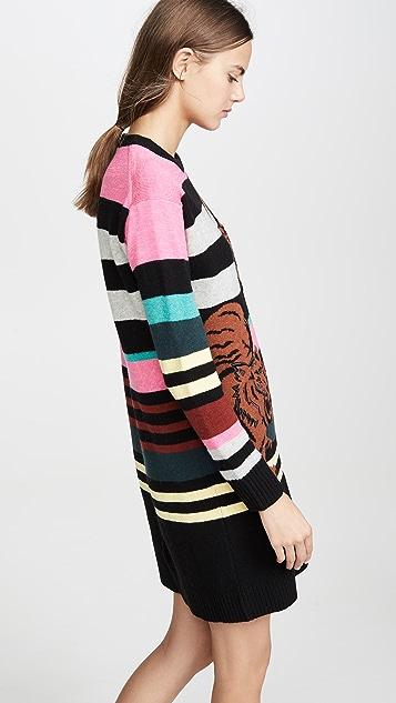 KENZO 双老虎毛衣连身裙