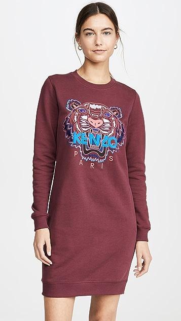 Kenzo Dress Classic Tiger Sweatshirt Dress