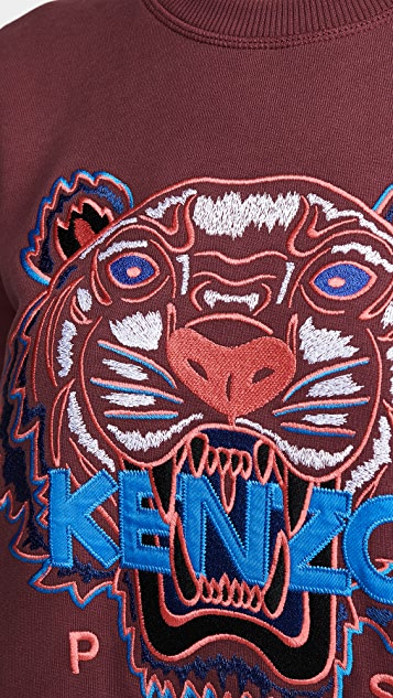 KENZO Классическое платье-толстовка Tiger