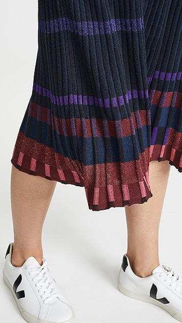 KENZO 褶皱中长裙