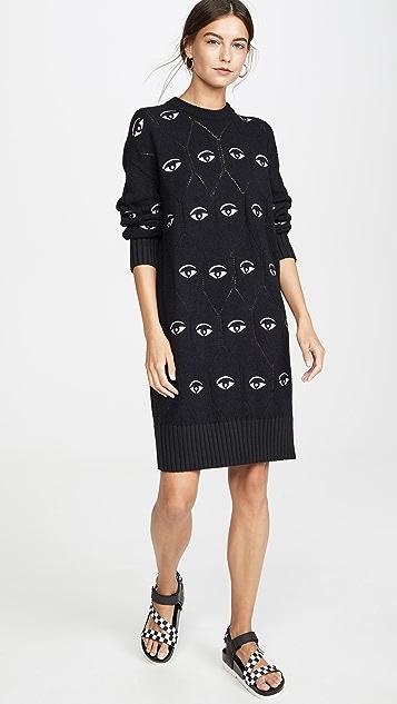 KENZO Платье-свитер All Over Eye