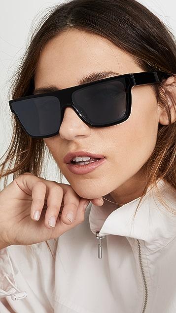 KENZO Classic Flat Top Wayfarer Sunglasses