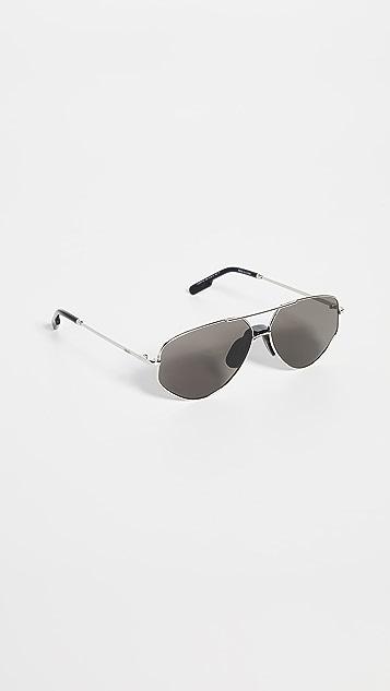 KENZO Остроугольные солнцезащитные очки-авиаторы