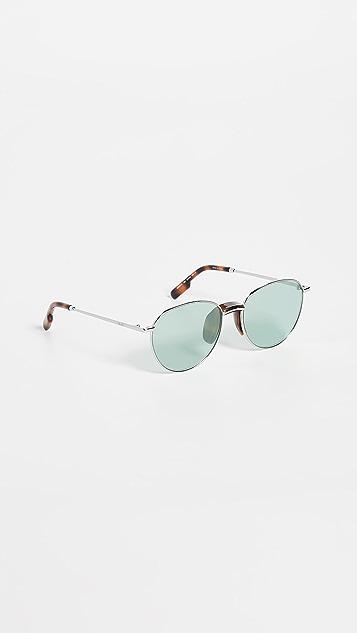 KENZO Classic Round Metal Sunglasses