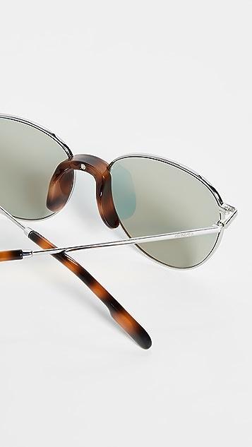 KENZO Классические металлические округлые солнцезащитные очки