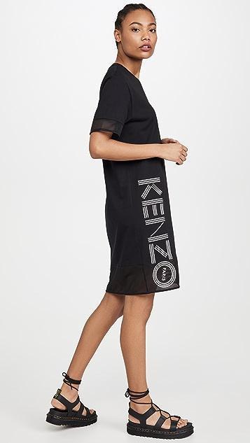KENZO Kenzo 网眼织物运动 T 恤连衣裙