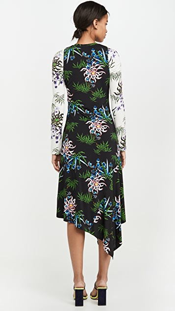 KENZO Fluid Asymetrical All Over Dress