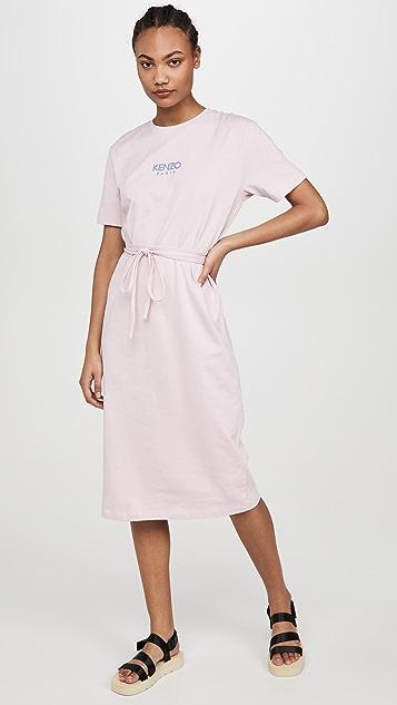 KENZO 配腰带 T 恤式连衣裙