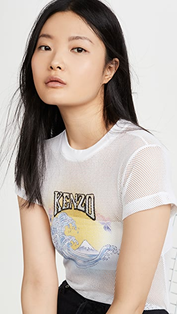 KENZO Mesh Fitted T-Shirt