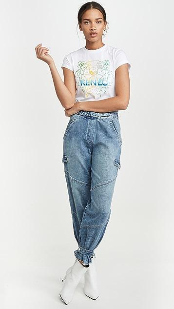 KENZO Cropped Skinny T-Shirt