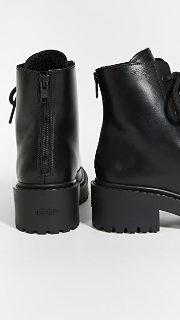 KENZO Pike Lace Up Shearling Boots