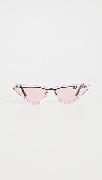 KENZO Rimless Cat Eye Sunglasses