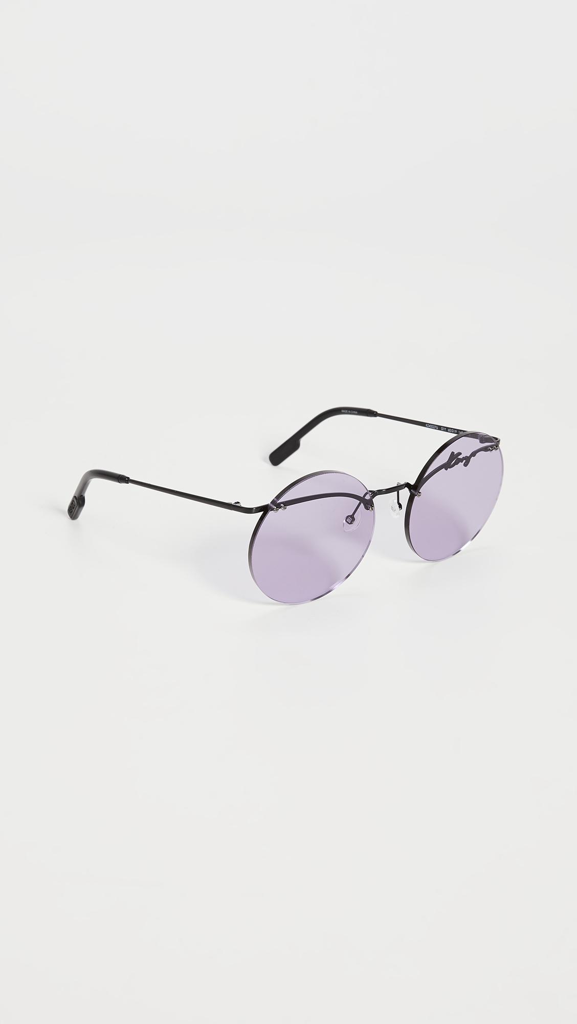 KENZO Rimless Oversized Round Sunglasses