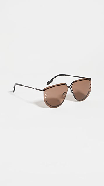 KENZO Rimless Aviator Sunglasses