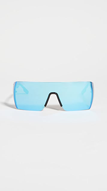 KENZO 运动风格盾牌太阳镜