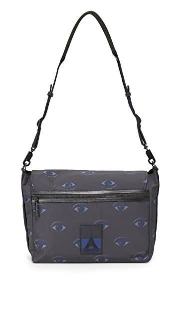 KENZO Essentiels Eyes Messenger Bag
