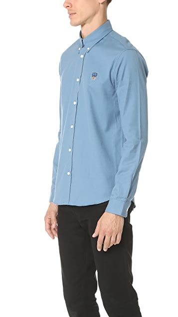 KENZO Tiger Crest Brushed Cotton Shirt