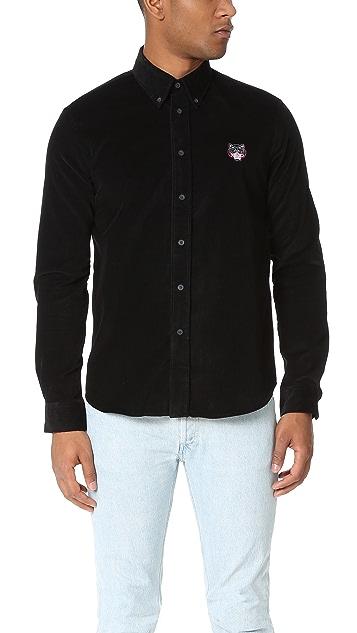 KENZO Tiger Crest Corduroy Shirt