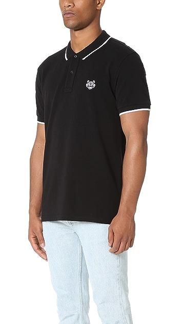 KENZO Tiger Crest Pique Polo