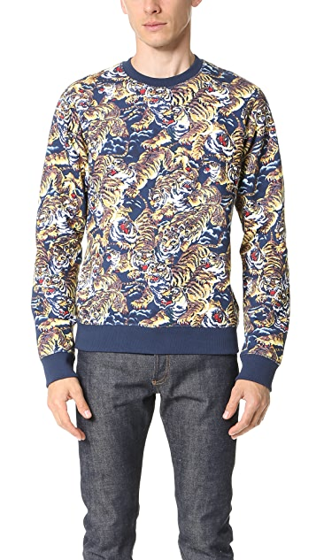 KENZO Allover Flying Tiger Sweatshirt