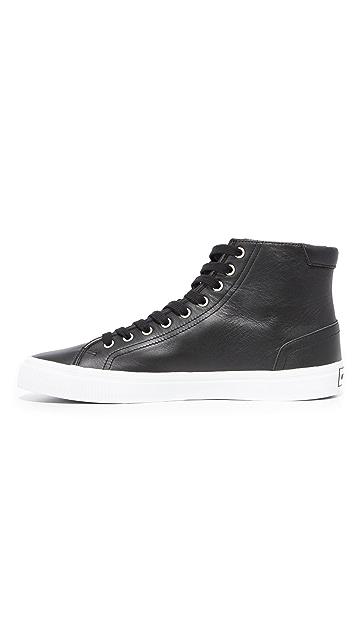 KENZO Vulcano Leather High Top Sneakers
