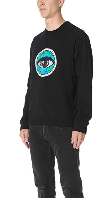 KENZO World Eye Crew Neck Sweatshirt