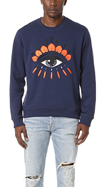 1bbd75a6b KENZO Eye Crew Sweatshirt | EAST DANE