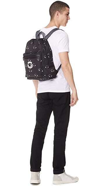 KENZO Nylon Eyes All Over Backpack