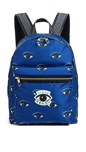 KENZO Nylon Eyes All Over Backpack