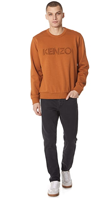 KENZO Molleton & Nylon Sweatshirt