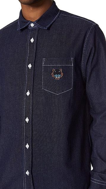 KENZO Tiger Crest Denim Shirt