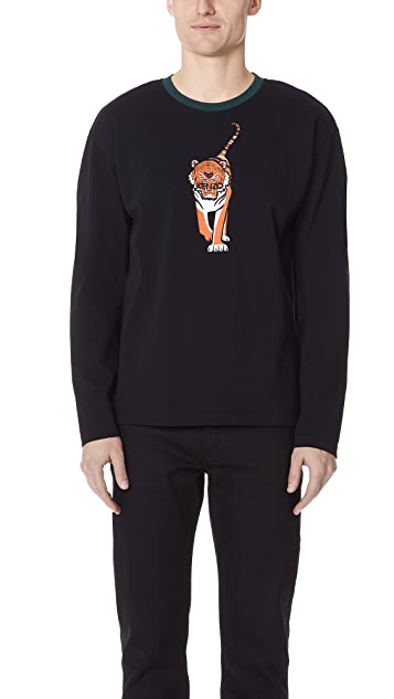 KENZO Walking Tiger Long Sleeve Top