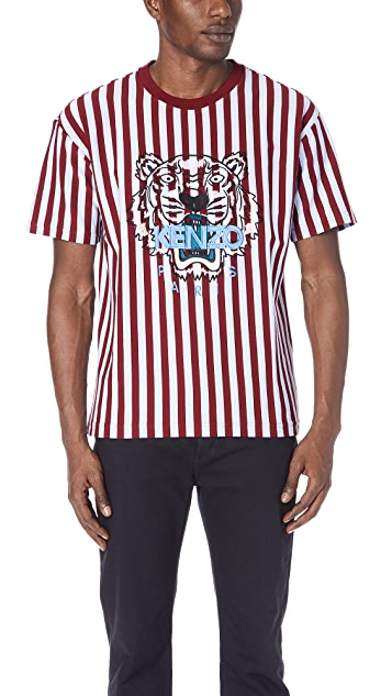KENZO Stripe Tiger T-Shirt