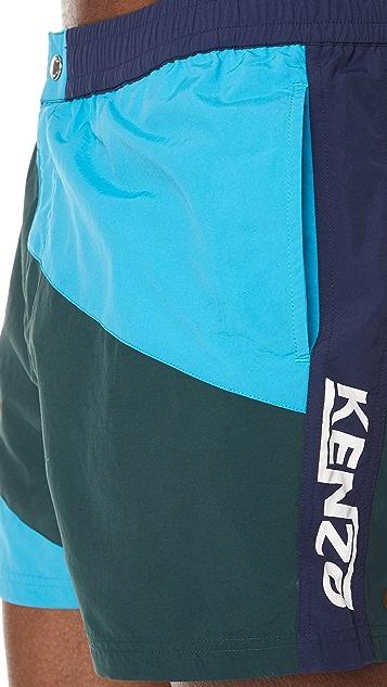 KENZO Colorblock Short Shorts