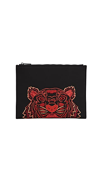 KENZO A4 Neoprene Tiger Pouch