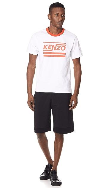 KENZO Nylon & Terry Shorts