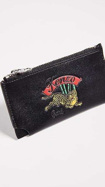 KENZO Zip Card Case