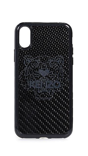 KENZO iPhone X Carbon Fiber Case
