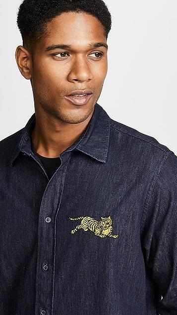 KENZO Jumping Tiger Denim Shirt