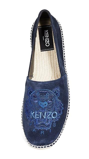KENZO Classic Suede Tiger Espadrilles