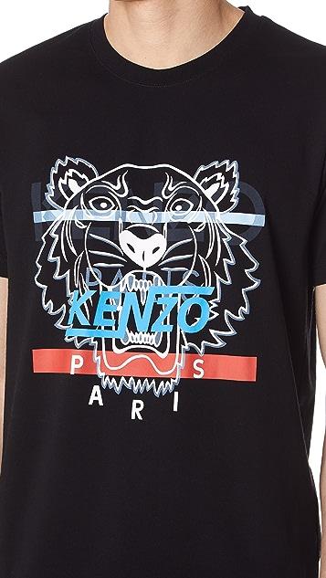 KENZO Hyper Tiger Tee Shirt