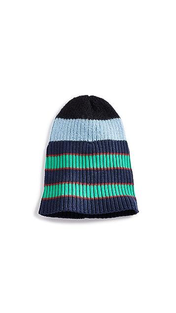 KENZO Stripy Cable Wool Beanie